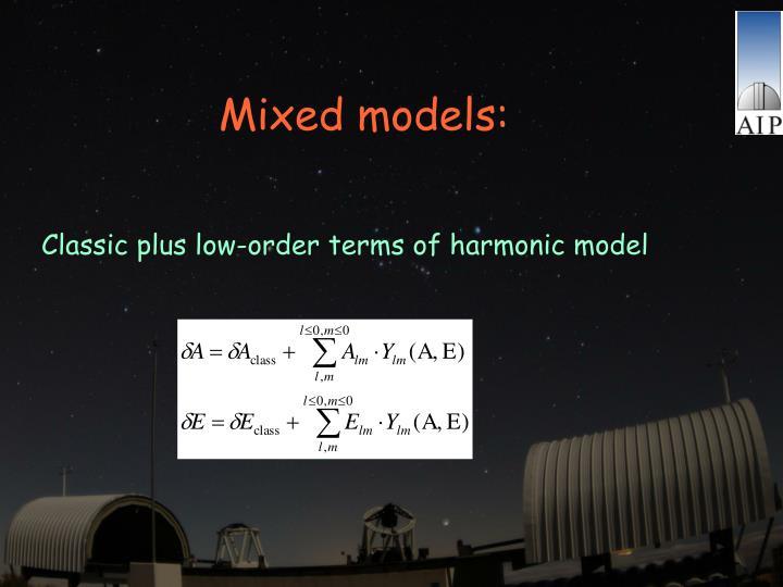 Mixed models:
