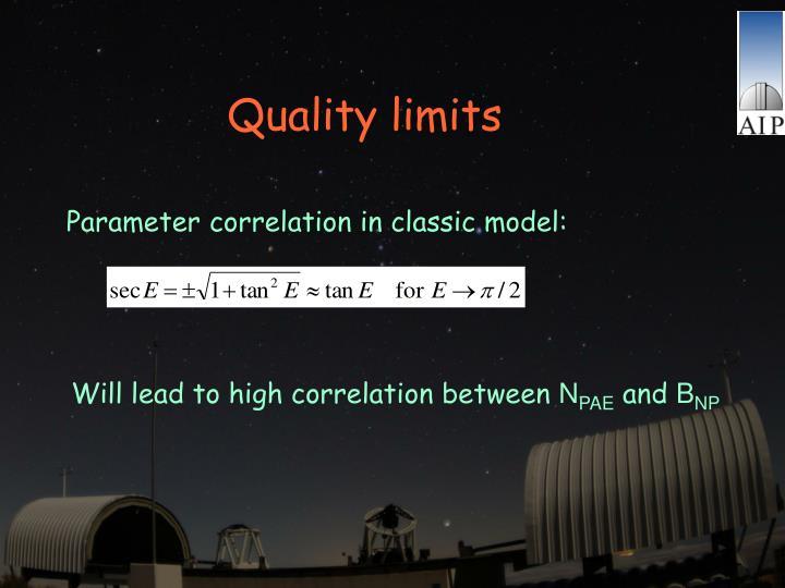 Quality limits