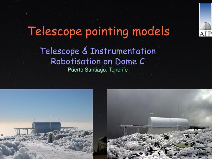 Telescope pointing models