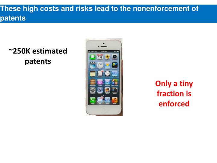 These high costs and risks lead to the
