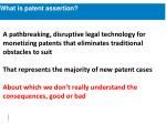 what is patent assertion3