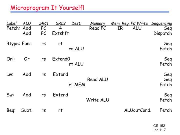 Microprogram It Yourself!