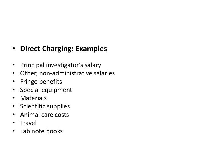 Direct Charging: Examples