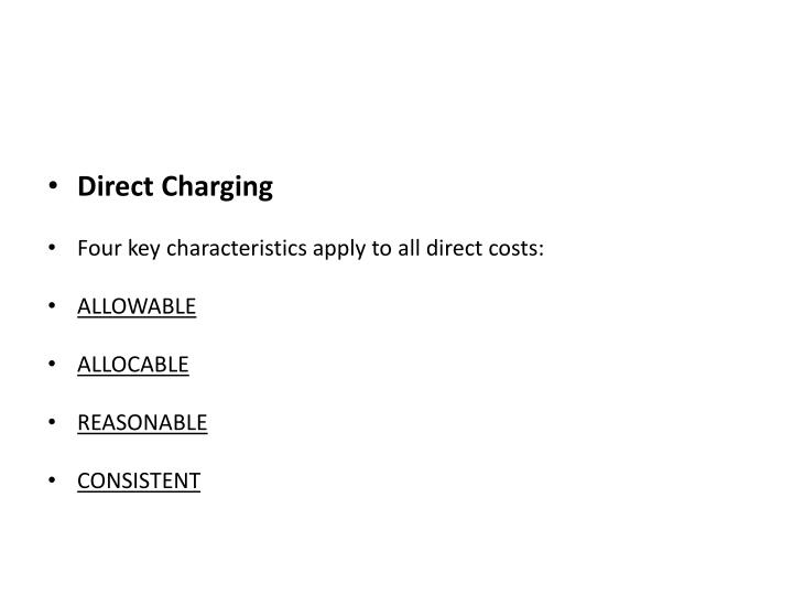 Direct Charging
