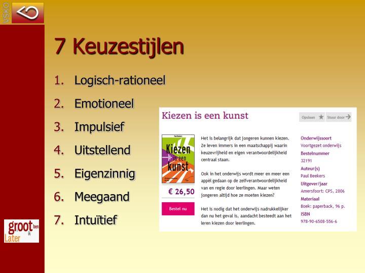 7 Keuzestijlen