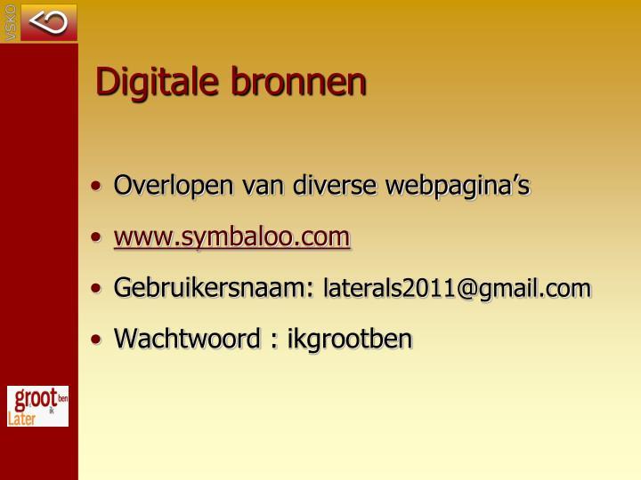 Digitale bronnen
