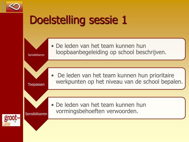 Doelstelling sessie 1