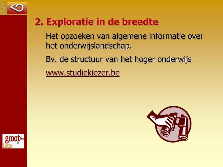 2. Exploratie