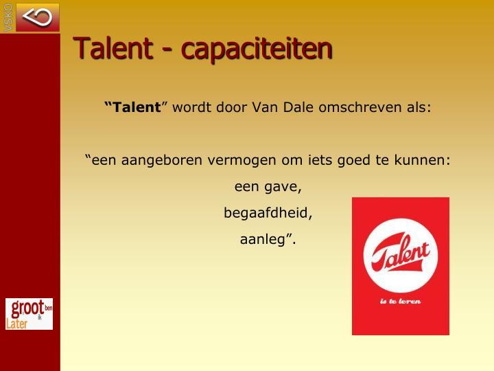 Talent - capaciteiten