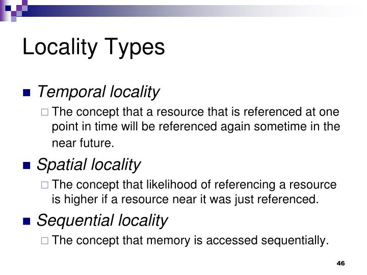 Locality Types