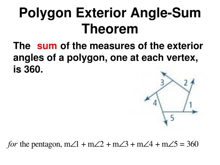 Polygon Exterior Angle-Sum Theorem