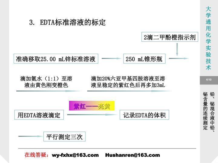 3. EDTA标准溶液的标定