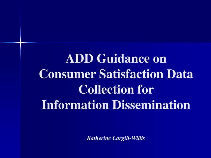 ADD Guidance on