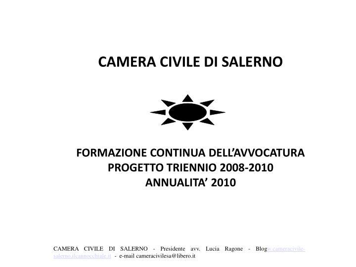 CAMERA CIVILE DI SALERNO