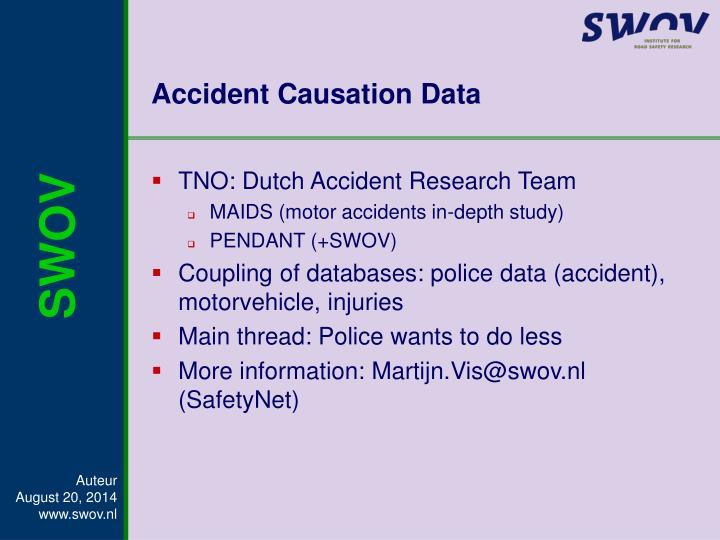 Accident Causation Data