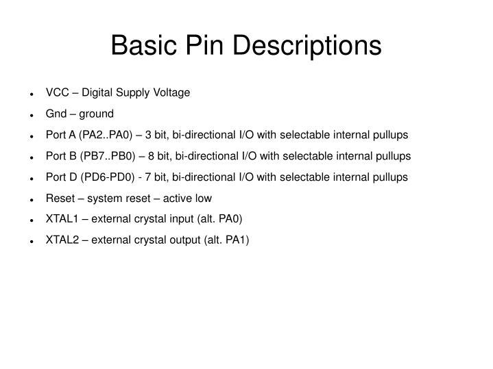 Basic Pin Descriptions