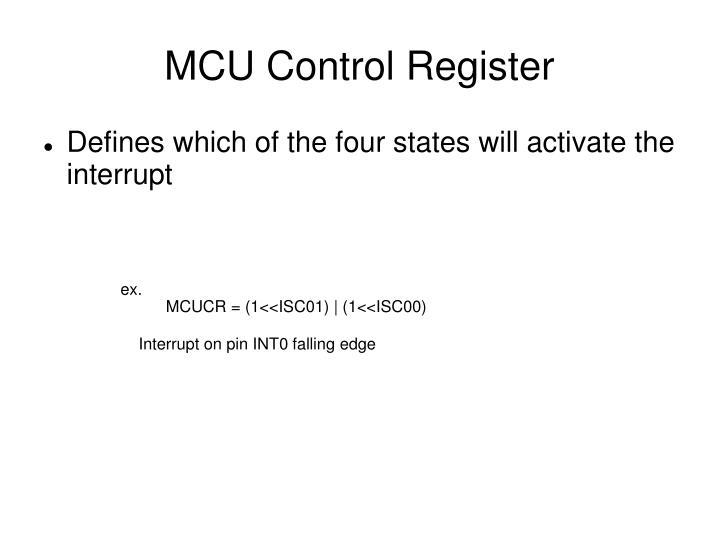 MCU Control Register