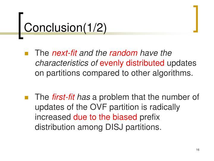 Conclusion(1/2)