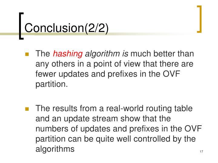 Conclusion(2/2)