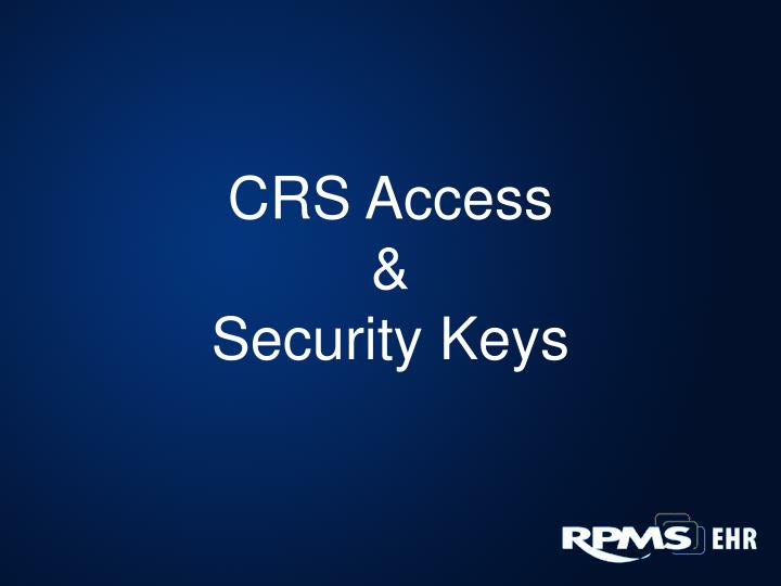 CRS Access