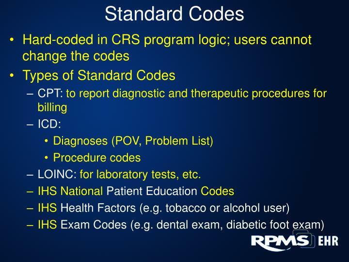 Standard Codes