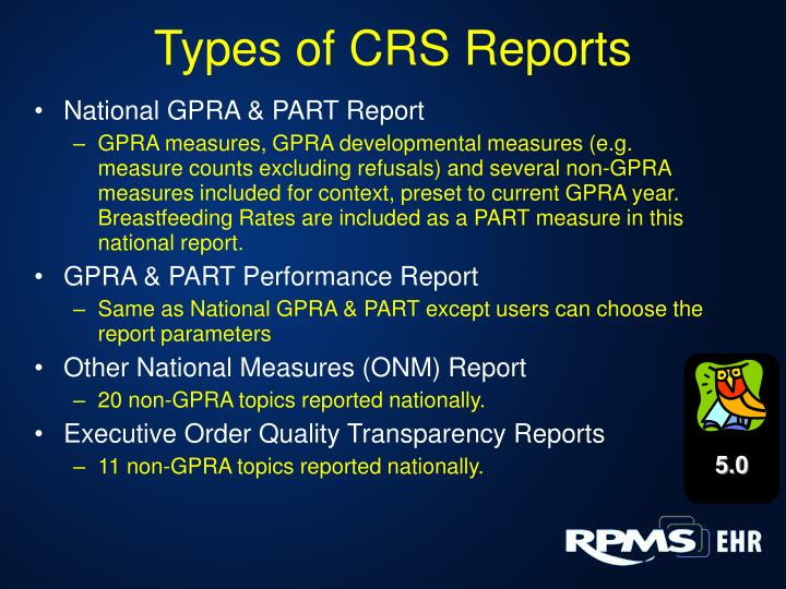 Types of CRS Reports