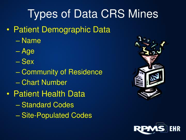 Types of Data CRS Mines