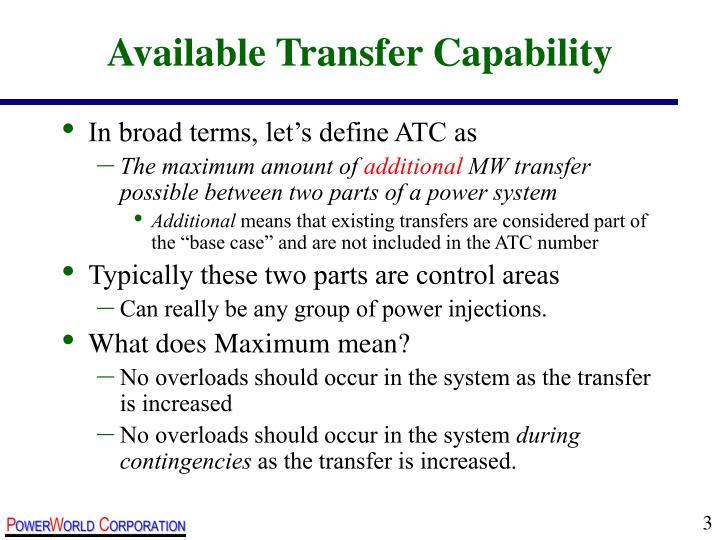 Available Transfer Capability