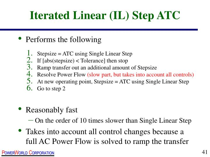 Iterated Linear (IL) Step ATC
