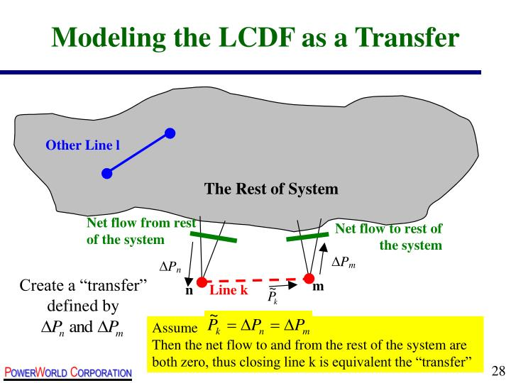 Modeling the LCDF as a Transfer