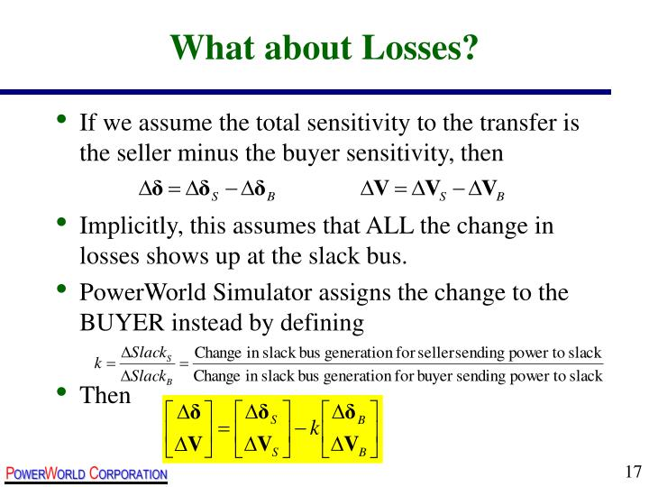 What about Losses?