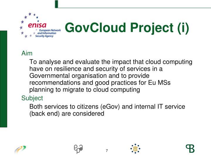 ENISA GovCloud Project (i)