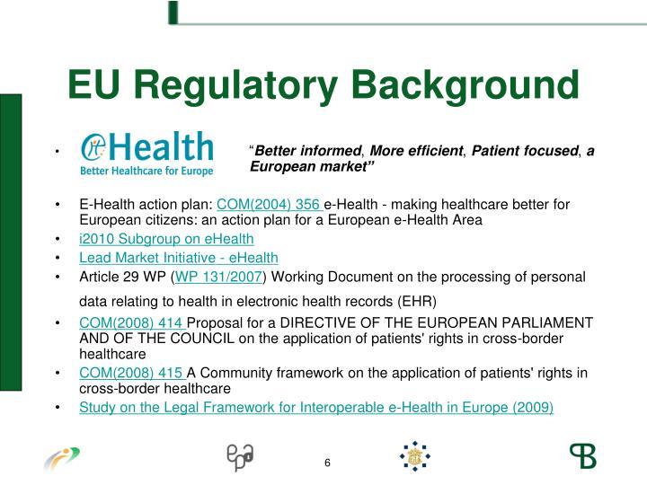 EU Regulatory Background
