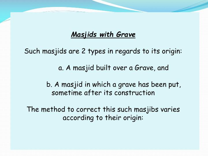 Masjids with Grave