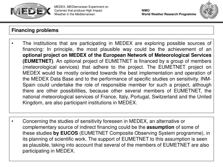MEDEX, MEDiterranean Experiment on Cyclones that produce High Impact Weather in the Mediterranean