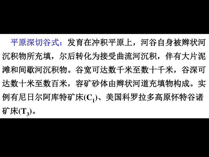 平原深切谷式: