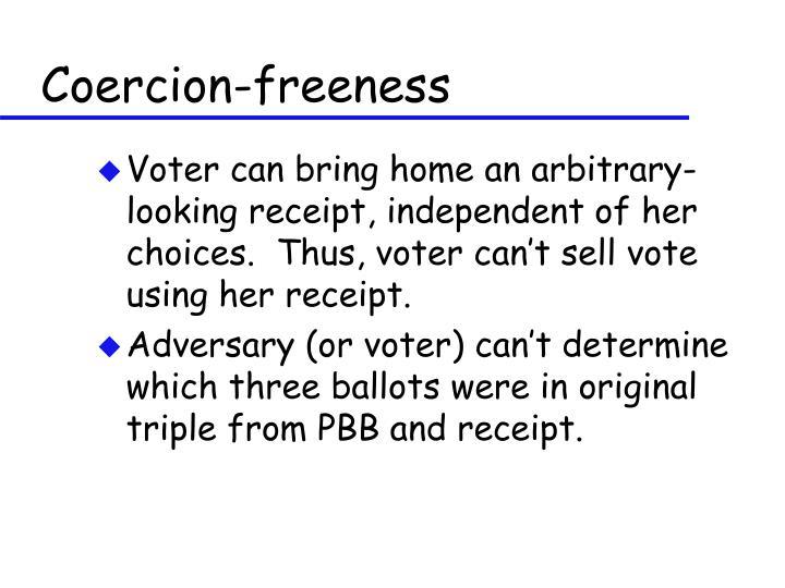 Coercion-freeness