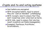 crypto end to end voting systems