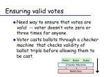 ensuring valid votes