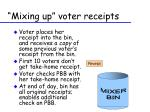 mixing up voter receipts