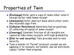 properties of twin