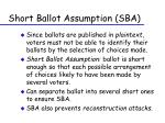 short ballot assumption sba