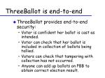 threeballot is end to end