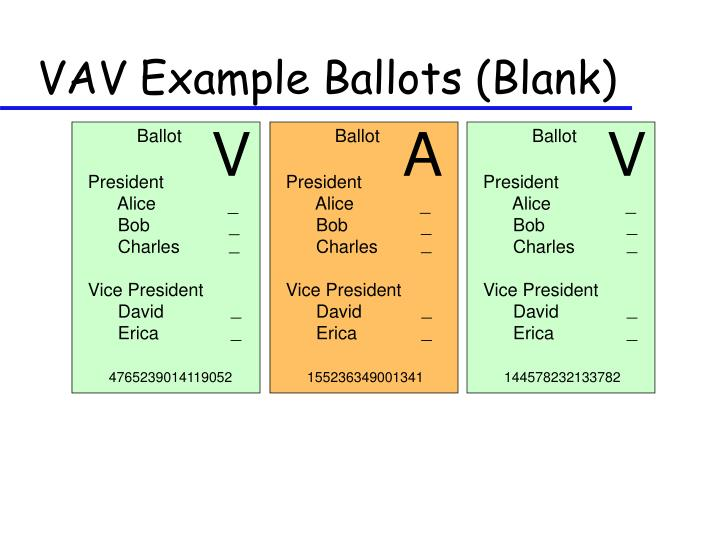 VAV Example Ballots (Blank)