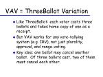 vav threeballot variation