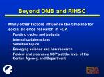 beyond omb and rihsc