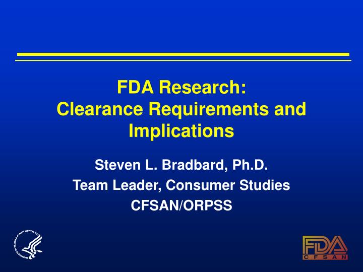 fda research clearance requirements and implications