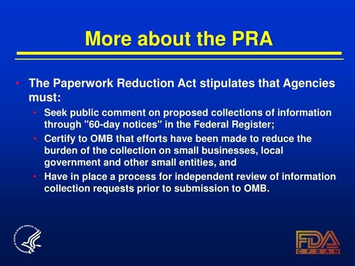 More about the PRA