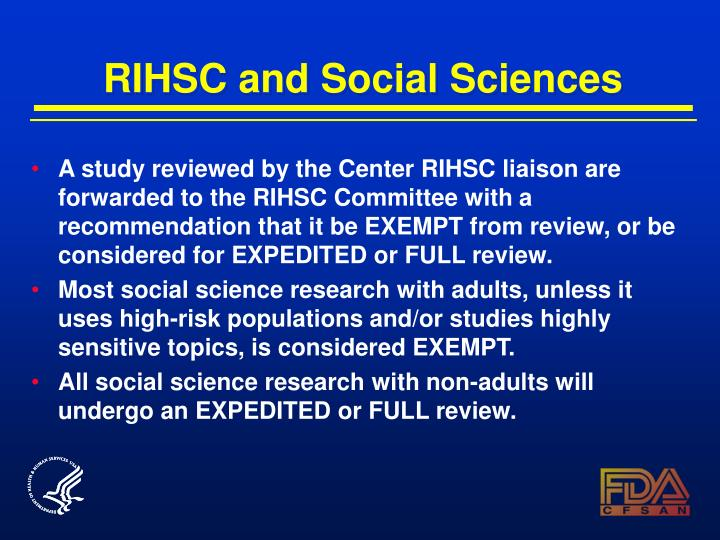 RIHSC and Social Sciences