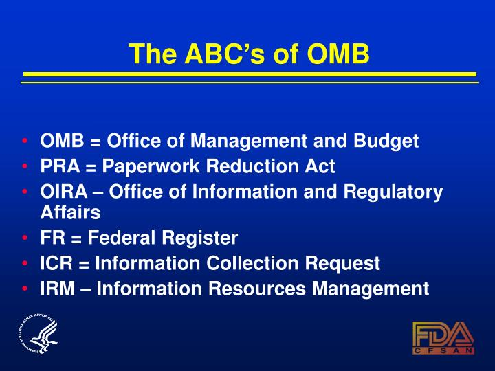 The ABC's of OMB